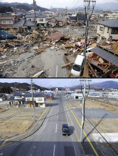 Цунами в Японии: пострадавшие районы. - №14