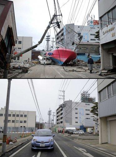 Цунами в Японии: пострадавшие районы. - №16