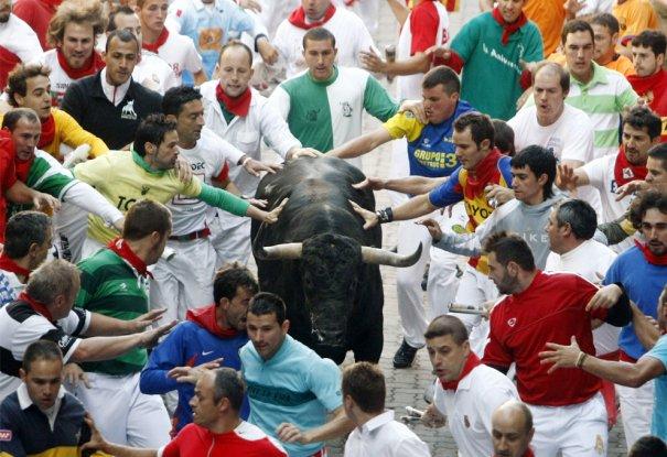 Коснуться быка перед корридой - на удачу! Фото:Susana Vera