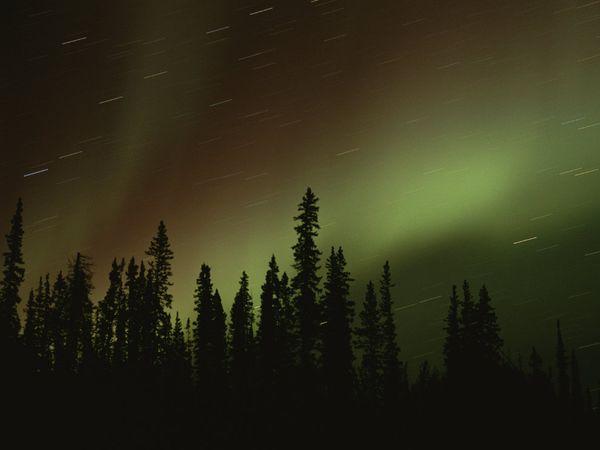 Канада, северное сияние, фото: Raymond Gehman