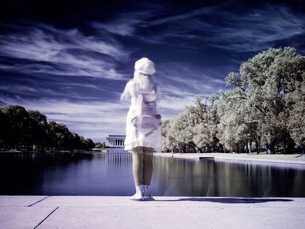 Отражение в бассейне, мемориал Линкольна, фото:Robin Moore
