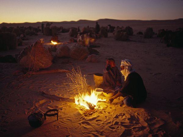 Ночевка в Сахаре, фото:Michael S. Lewis