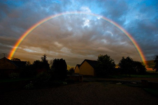Можно ли увидеть радугу ночью?