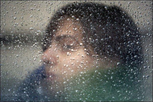 Rain and Rider photo by Justine Hunt Boston Globe staff