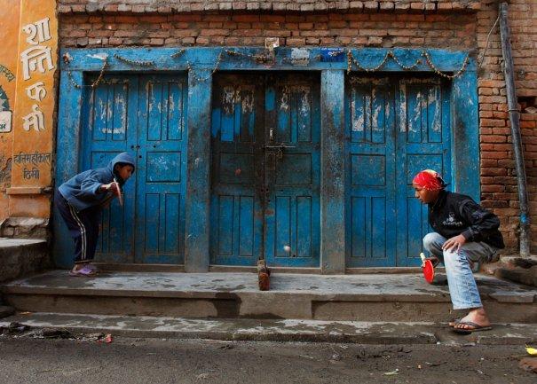 """""""Асфальтный теннис"""", Катманду, Непал, фото: Niranjan Shrestha"""