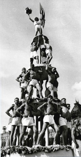 Выступление спорстменов, 1930 год
