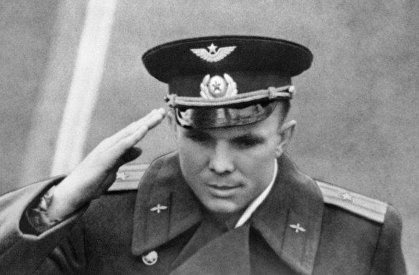 Присяга ВВС еще капитана Юрия Алескеевича Гагарина, 12 апреля 1961 год