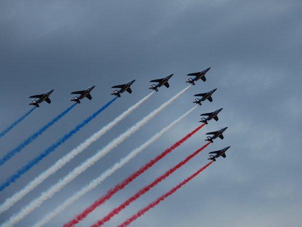 Аэрошоу, День взятия Бастилии, Париж, Франция