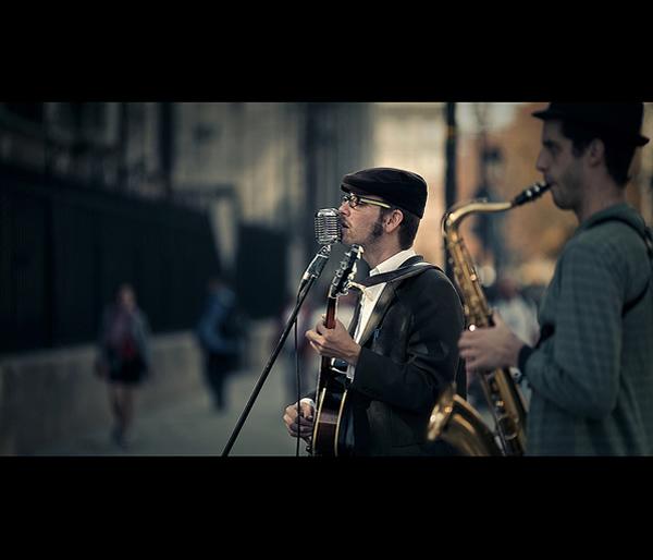 """""""Уличный музыкант"""", фото: Millan Rible"""