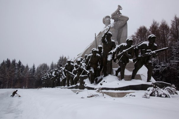 Памятник воинам Корейской войны.