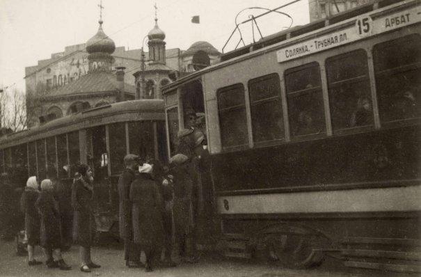 1957 год, СССР, общественный транспорт.