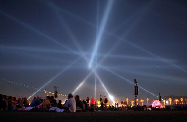 Лазерное шоу на Коачелла-2012, фото: David McNew