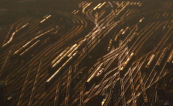 Железнодорожные пути, Франкфурт, Германия, фотограф: Kai Pfaffenbach