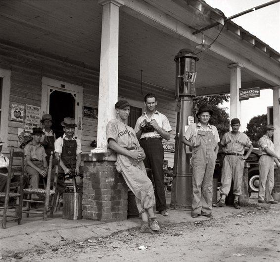 """Бейсбольная команда """"Сидергрув"""" в Северной Каролине (июнь, 1939 г.), фотограф: Доротея Ланж"""