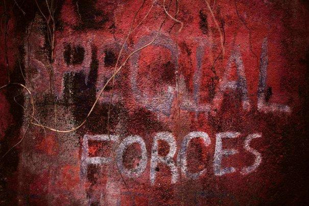 """Граффити """"Спец подразделение"""", Кайлхаун, Сьерра-Леолне, фото: Finbarr O'Reilly"""