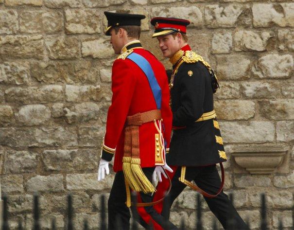 Принц Уильям и принц Гарри, фото: Kai Pfaffenbach