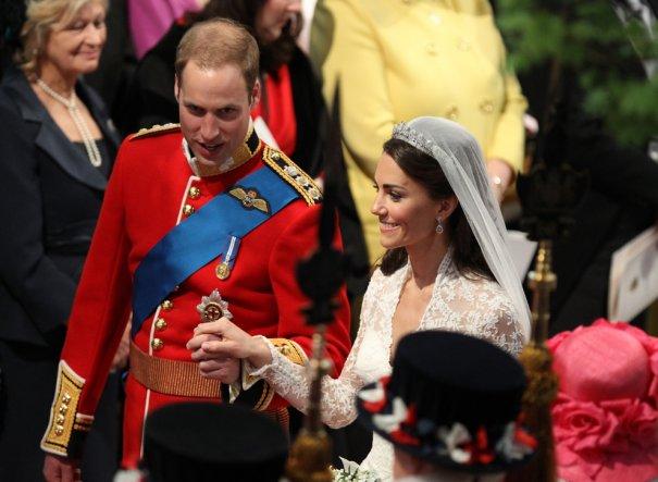Принц Уильям со своей супругой принцессой Кэтрин, фото: Adrian Dennis