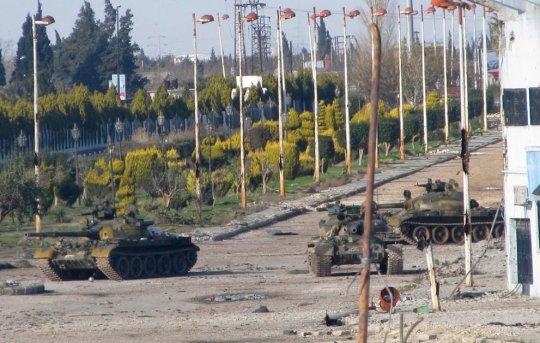 город Хомс, улица Баб-Амро, Сирия (12.02.2012)