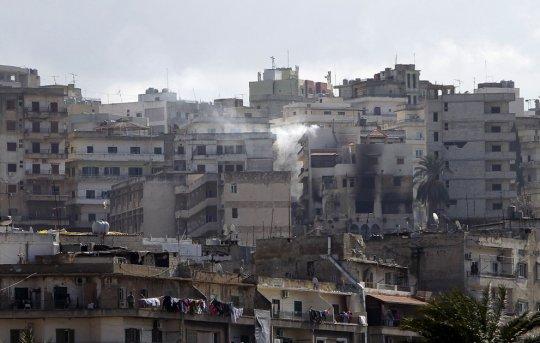 Разрушенные дома, город Триполи (11 февраля 2012 года)
