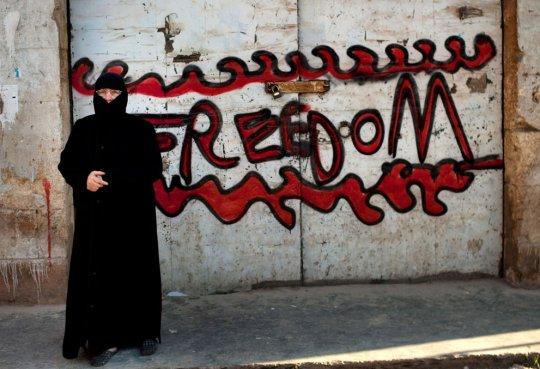 Во время демонстрации, г.Идлиб, Сирия