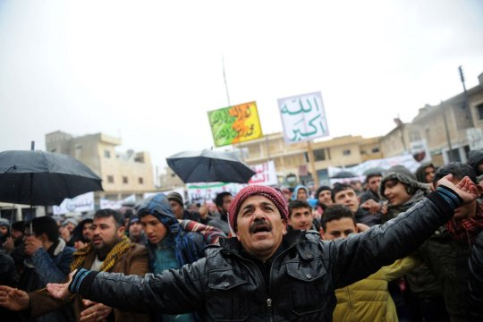 Демонстрация, г.Идлиб, Сирия