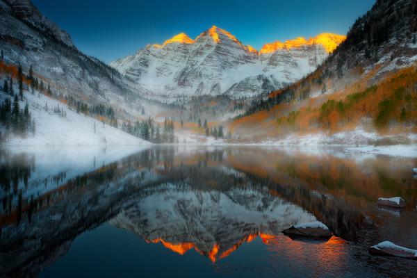 Maroon Bells Sunrise, Colorado Rockies