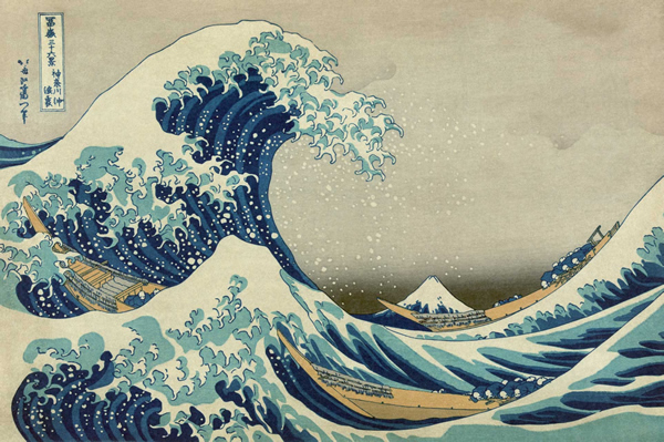 16 Катсушика Хокусаи. Большая волна в Канагаве