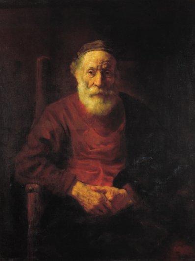 25 Рембрандт. Старик в красном