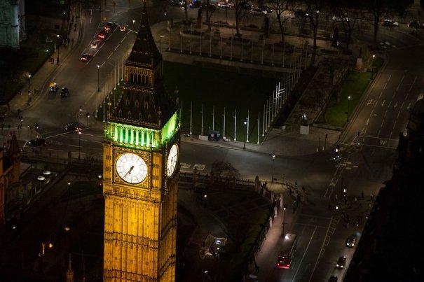 Часовая башня Вестминстерского дворца, известная как Биг Бен.