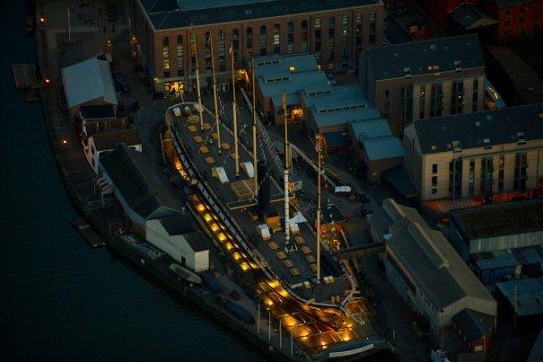 «Великобритания, корабль, впервые отправившийся в плавание в 1843,  теперь находится на сухом доке в Бристоле.