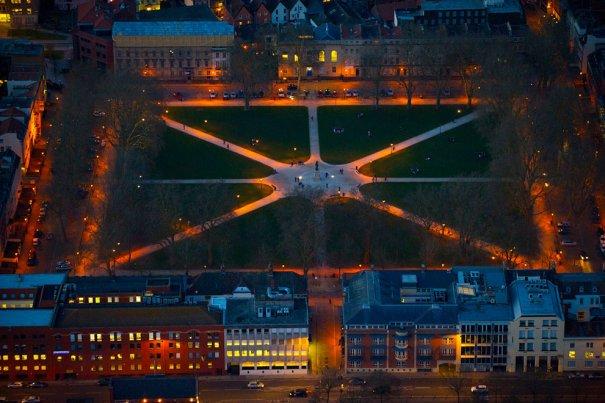 Королевская площадь в Бристоле, Англия.