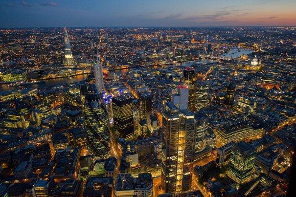 Ночной Лондон, Великобритания.