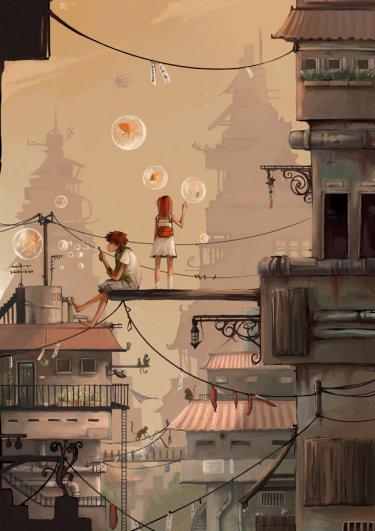 City Escape by Rozefire