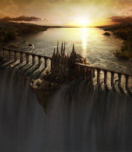 Waterfall Castle by fstarno