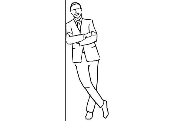 Работа над позами моделей: 21 пример поз для мужских портретов - №8
