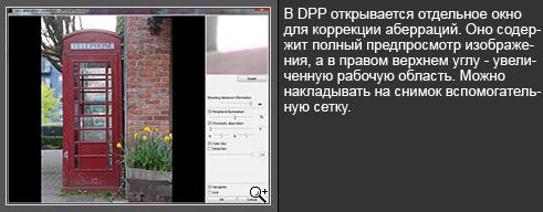 Окно редактирования аберраций