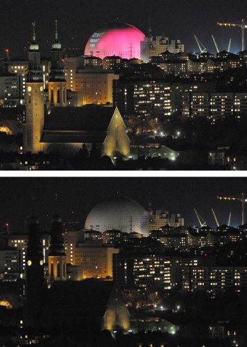 Церковь Hogalid и Ericsson Globe Arena,Стокгольм, Швеция