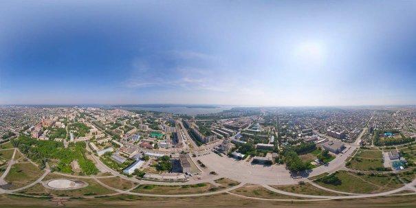 Центр Бердска с вертолета