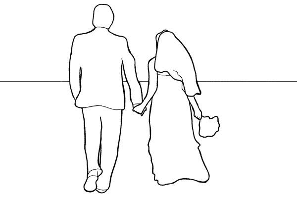 Работа над позами моделей: 21 пример поз для свадебных фотографий - №14