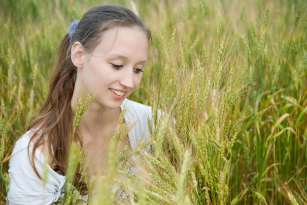 Woman and wheat