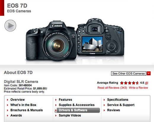 Компания Canon выпустила новую прошивку для EOS 7D - №1