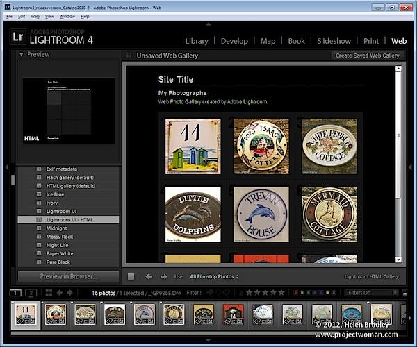 Как создать HTML фото галерею в Lightroom - №2