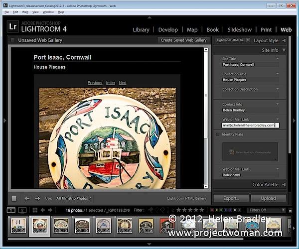 Как создать HTML фото галерею в Lightroom - №4
