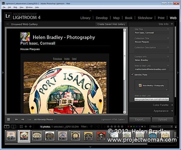 Как создать HTML фото галерею в Lightroom - №5