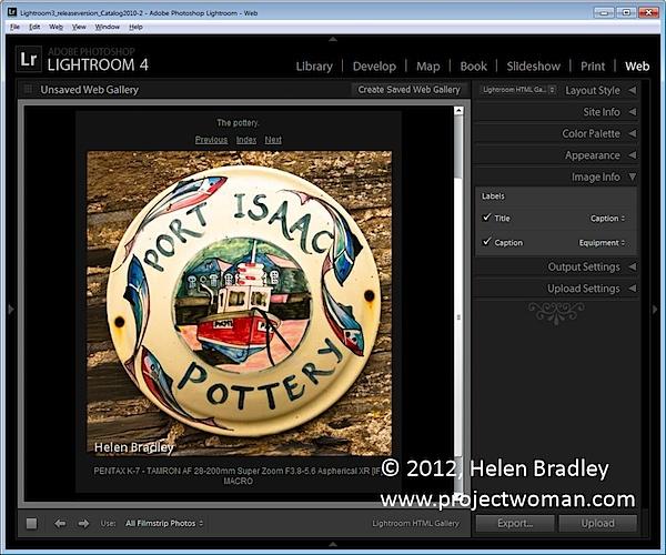 Как создать HTML фото галерею в Lightroom - №8