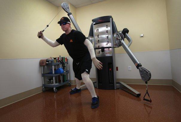 Ветераны войны восстанавливаются в реабилитационном центре - №3