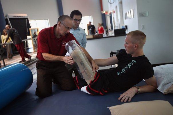 Ветераны войны восстанавливаются в реабилитационном центре - №4