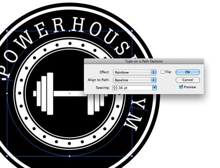 Как сделать логотип в ретро стиле - №11