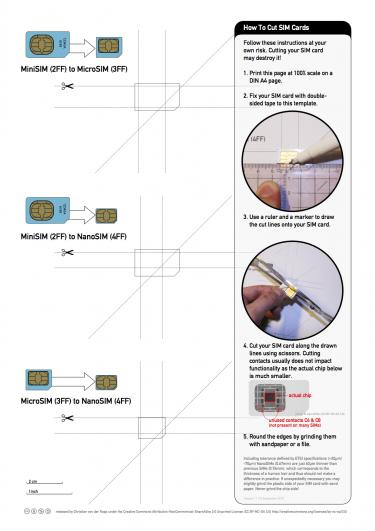 Простой способ обрезки SIM-карт до Nano-SIM - №1