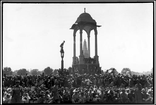 Индия. Дели. Похороны Ганди. 1948. Henri Cartier-Bresson